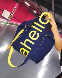 Ефектна дамска чанта в тъмносиньо - код B293