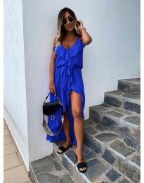 Елегантна рокля в цвят синьо - код 0081