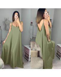 Свободна дълга рокля в зелено - код 6600