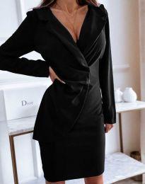 Елегантна рокля в черно - код 4159