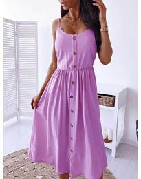 Изчистена рокля цвят лилаво -  код 5057
