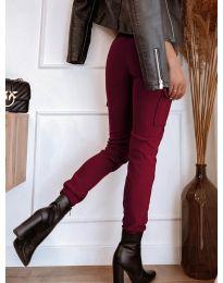 Панталон с джобове в бордо - код 4842