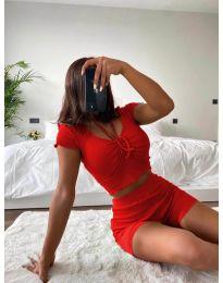 Дамски комплект в червено - код 1086