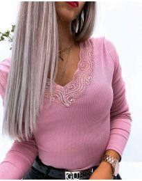 Дамска блуза в розово - код 3938
