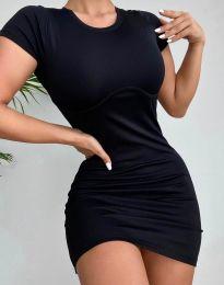 Изчистена къса рокля в черно - код 12833