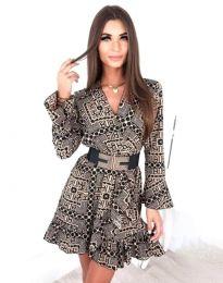 Дамска рокля с ефектен десен - код 2726 - 3