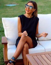 Къса елегантна рокля в черно - код 5786
