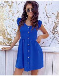 Свободна изчистена рокля в тъмно синьо - код 3033