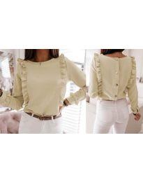 Дамска блуза в бежово - код 4171