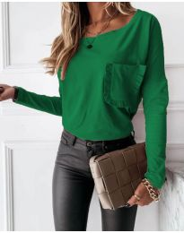 Дамска блуза в зелено - код 4450