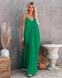Свободна дамска рокля в зелено - код 4673