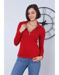 Дамска блуза в червено - код 2059
