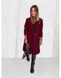 Дамско палто в бордо - код 4540