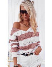 Дамска блуза в  цвят пудра - код 8689