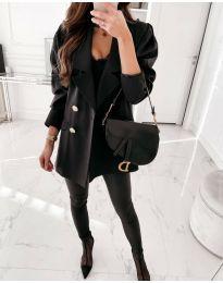 Свободно дамско сако в черно - код 5868