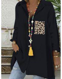 Екстравагантна блуза в черно - код 5641