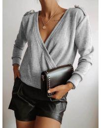 Дамска блуза в сиво - код 294