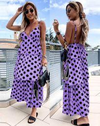 Дълга атрактивна рокля в лилаво - 8192