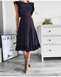 Черна елегантна рокля - код 019