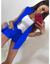 Дамски комплект в синьо - код 653