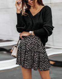 Стилна дамска блуза в черно - код 0657