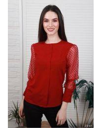 Елегантна дамска блуза в червено - код 0631