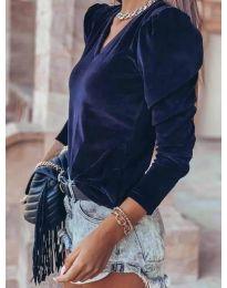 Дамска блуза в тъмно синьо - код 0755