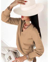 Дамска блуза в цвят капучино - код 2133