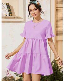 Свободна дамска рокля в лилаво - код 0033