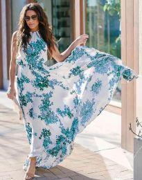 Дълга рокля с флорален десен - код 2963 - 5
