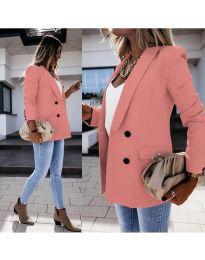 Елегантно дамско сако в цвят корал - код 949