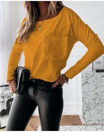 Дамска блуза в цвят горчица - код 0382