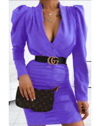 Стилна рокля в лилаво- код 953