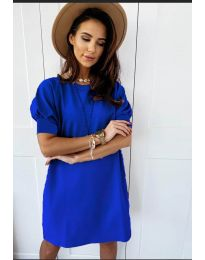 Коктейлна рокля в синьо - код 9868