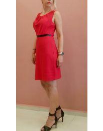 Изчистена рокля в червено - код 9900