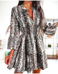 Дамска рокля с атрактивен десен - код 4250 - 2