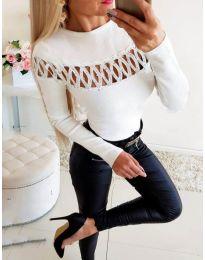 Елегантна дамска блуза в бяло - код 3511