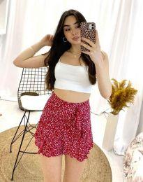 Пола тип панталон в червено - код 2592