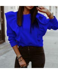 Дамска блуза в синьо - код 3890