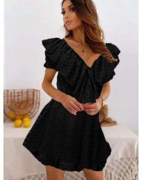 Ефирна рокля в черно - код 519