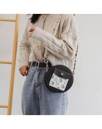 Кръгла  чанта в черно - код B163