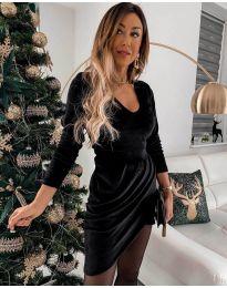 Екстравагантна рокля в черно - код 2129