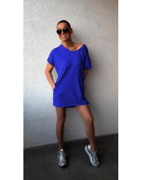Свободна рокля в тъмно синьо - 3080