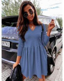 Дамска рокля в синьо - код 0060
