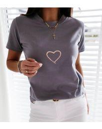 Тениска - код 3700 - сиво