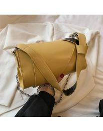 Дамска чанта в цвят горчица - код B572