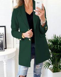 Дамско палто в масленозелено - код 4679
