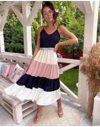 Дълга феерична рокля в черно - код 697 - 1