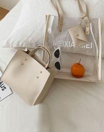 Атрактивна дамска чанта в бяло - код B304