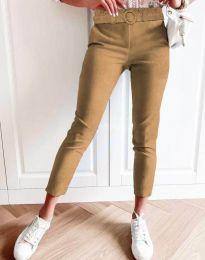 Дамски панталон в цвят капучино - код 5043